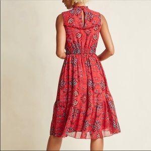 ModCloth high neckline sleeveless midi dress